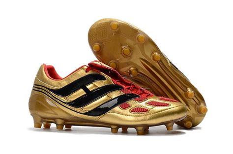 arrival mens football shoes gold black predator