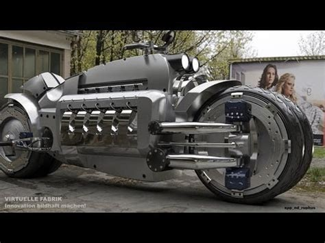 Schnellstes E Motorrad by Dodge Tomahawk Data And Sound