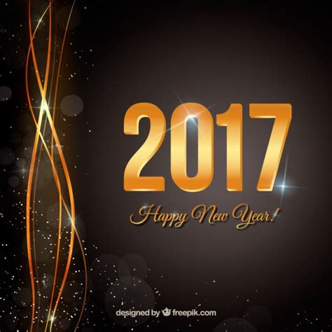 happy new year black background vector free download