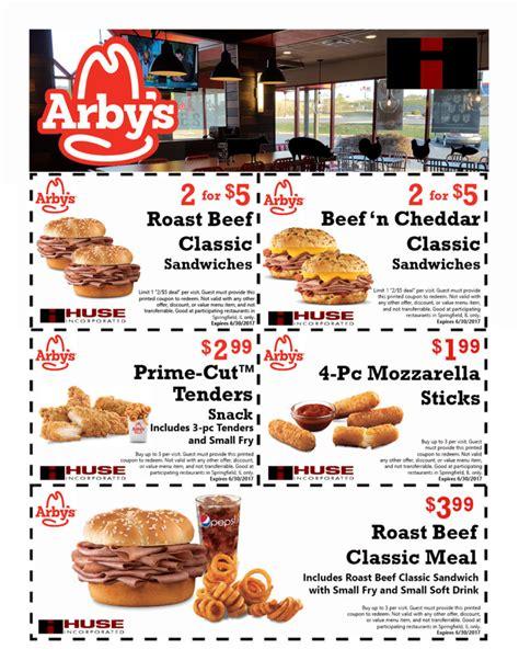 Arbys Coupons 2017 Printable