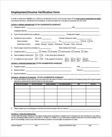 sle income verification form 9 free documents