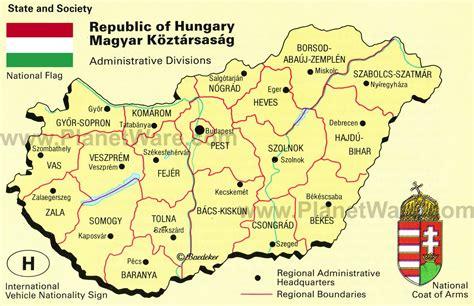 hungary map map of hungary republic of hungary maps mapsof net