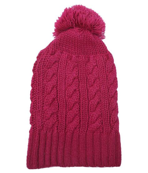 toppers for women snapdeal club york pink woolen cap for women buy online at low