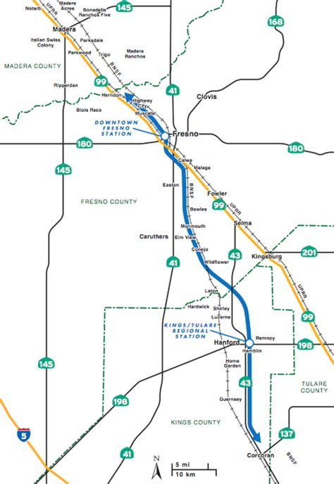 california rail map kickstarter california planners recommend fresno hanford for