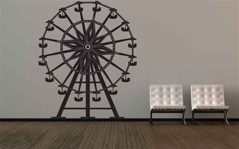 ferris wheel vinyl wall decal decals stickers