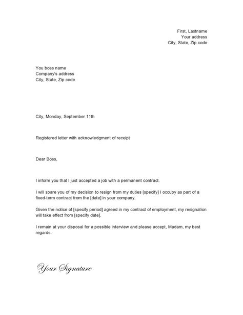 Resignation Letter Template Word For Mac Resignation Letter Format Sle Resignation Letter Word Template Mac Doc Need Thinking