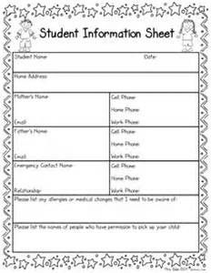 daycare information sheet template student information sheet idea for when parents