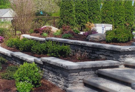 backyard retaining wall stone retaining wall for landscaping