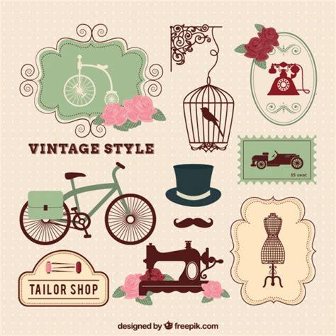 imagenes vintage retro gratis elementos de estilo vintage descargar vectores gratis