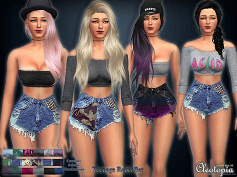 Vintage Home Decor Websites by The Sims Resource Set25 Teenage Rebel Casual Set By