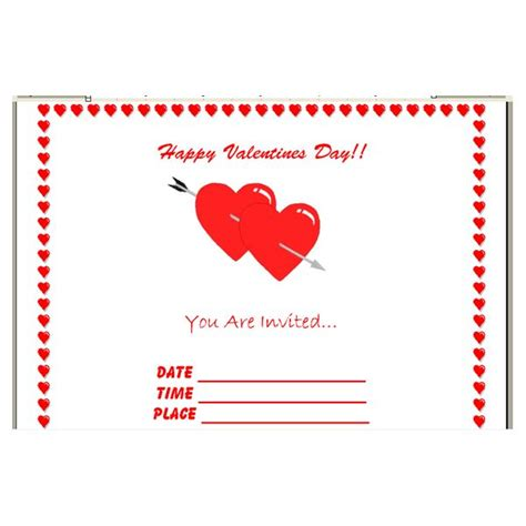 valentines day template s day invitation templates free new calendar