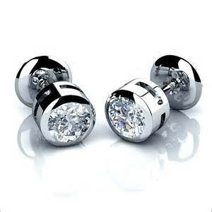Photos of the mens stud earrings always look boldly and confidently