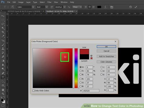 how to change text color how to change text color in photoshop 8 steps with pictures