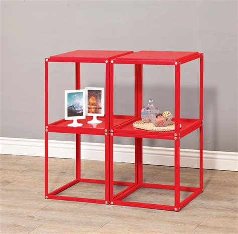 stacked cubes table l metal cube table storage unit stackable mix n match