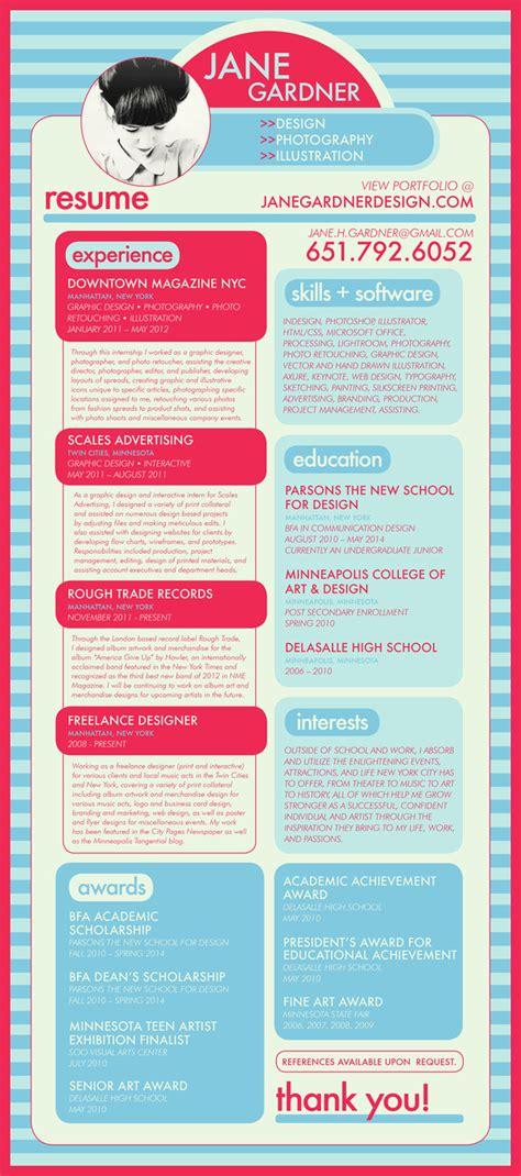 exles of creative resumes creative cv resume design milners