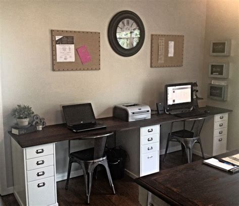 home office two desks best 25 two person desk ideas on 2 person