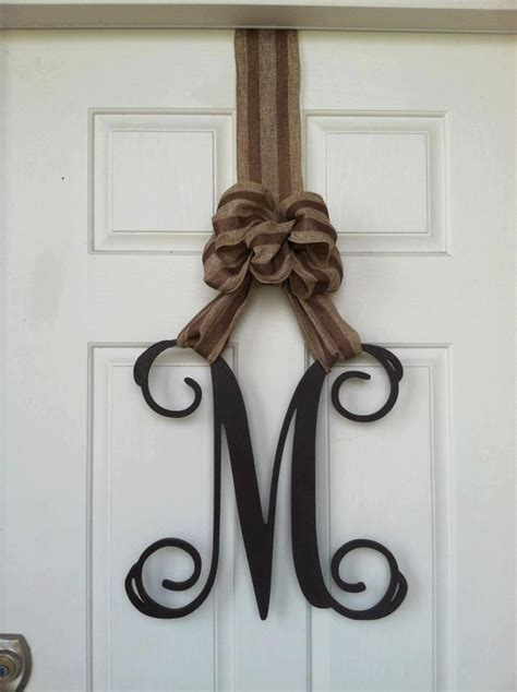 Monogram Letters Home Decor | wooden letters home decor monogram door hanger monogram