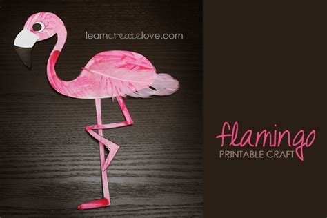 flamingo craft projects printable flamingo craft