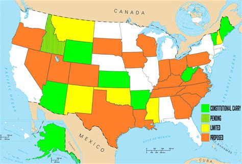 concealed carry usa map constitutional carry the three best arguments in favor