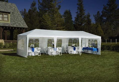 backyard party tents for sale sportcraft 9 x 27 event party tent shop your way