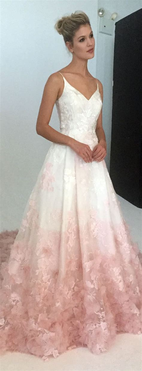 hochzeitskleid pink blush wedding dress by faetanini fall 2017 wedding