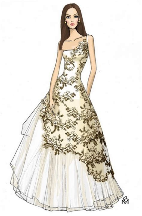 fashion illustration of dresses dress fashion illustration