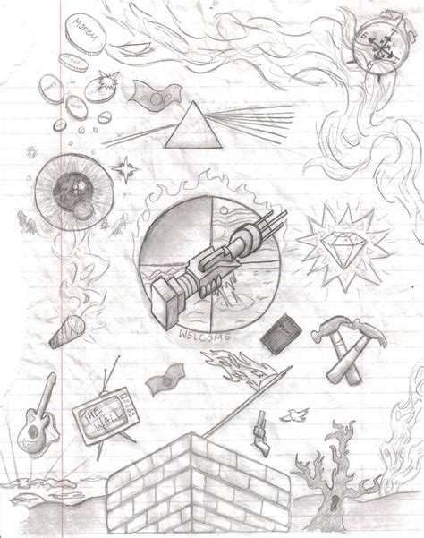 album artwork sketch pink floyd album and song by firesapphire on deviantart