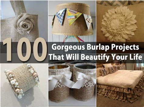 burlap crafts for 100 gorgeous burlap projects that will beautify your