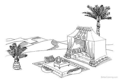 mojave desert animals  plants coloring pages tent