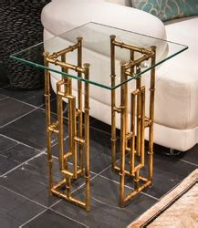 antique gold bamboo float accent table antique gold bamboo float iron accent table dessau home