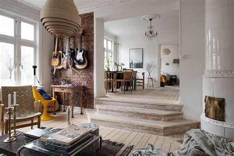 stylishly renovated modern apartment  wooden floor