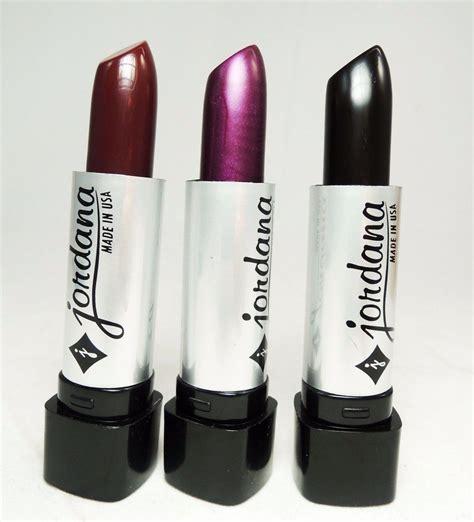 Lipstik Jordana 3 pcs jordana lipsticks black purple burnt sugar