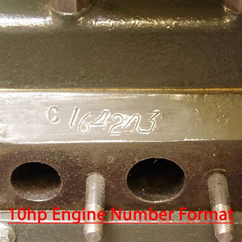 engine chassis numbers small ford spares