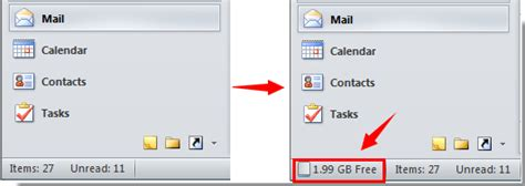 Office 365 Outlook Quota How To Display Quota Information In Outlook Status Bar