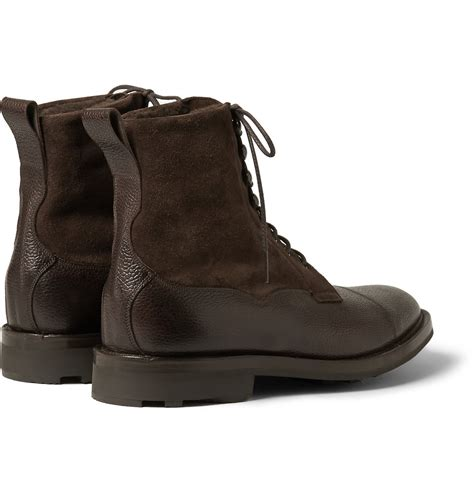 edward green boots lyst edward green galway shearling lined pebble grain