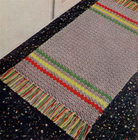 free rug patterns gray striped rug free crochet pattern