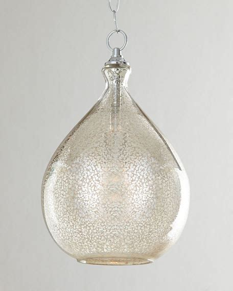 mercury glass pendant light fixtures mercury glass 1 light pendant neiman marcus
