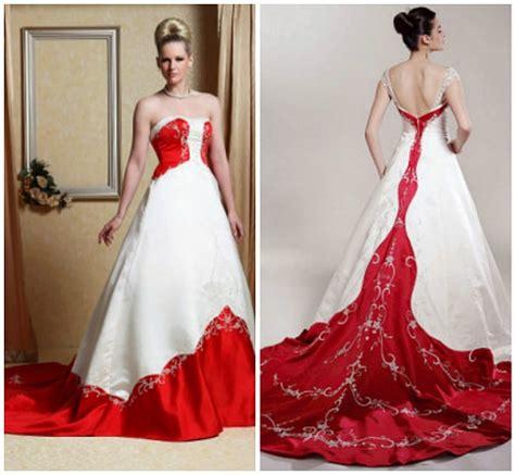 imagenes de vestidos de novia con detalles rojos vestidos de boda color rojo