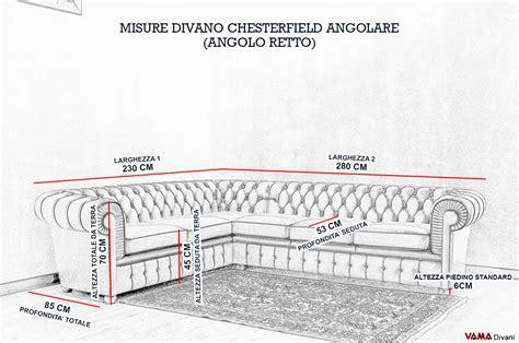 misure divano ad angolo divano chesterfield angolare prezzi e misura