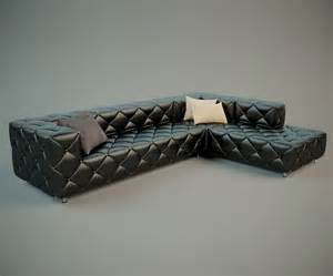 Stylish Leather Sofa Stylish Leather Sofa 3d Model Free High Poly Photorealistic