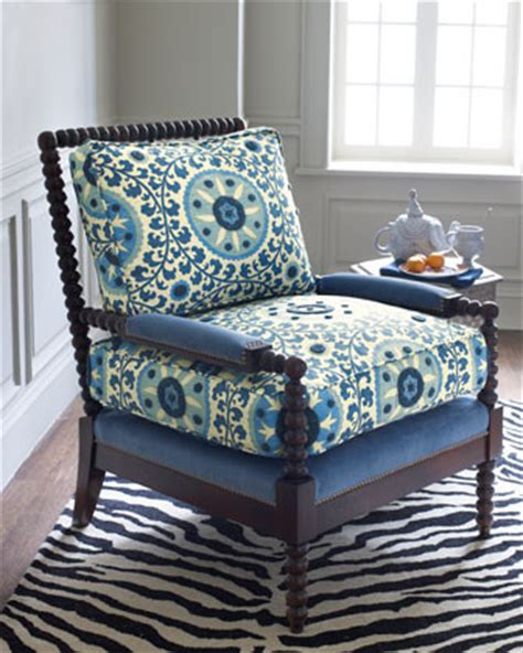 suzani fabric chair is the suzani spindle chair shown in blue fabric