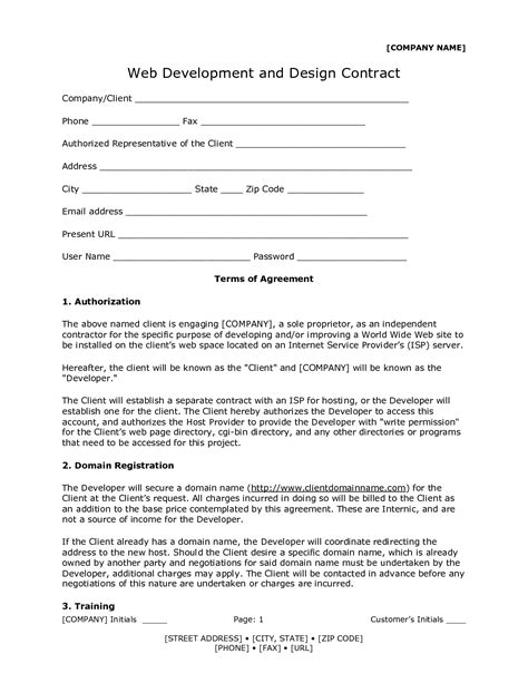 Agreement Letter For Design graphic designer contract modern house