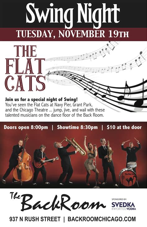 swing music chicago swing night at back room chicago nov 19 the flat cats