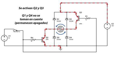 el transistor bipolar como interruptor el puente h invirtiendo el sentido de giro de un motor con arduino panama hitek