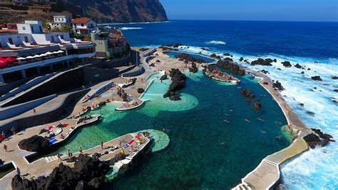 porto moniz madeira porto moniz swimming pool aerial view madeira