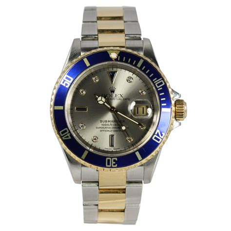 rolex pre owned s submariner date 16613