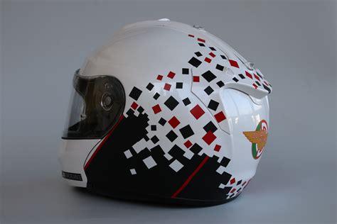Folien Aufkleber Helm by Helm Design F 252 R Einen Ducati Fahrer Irace Design