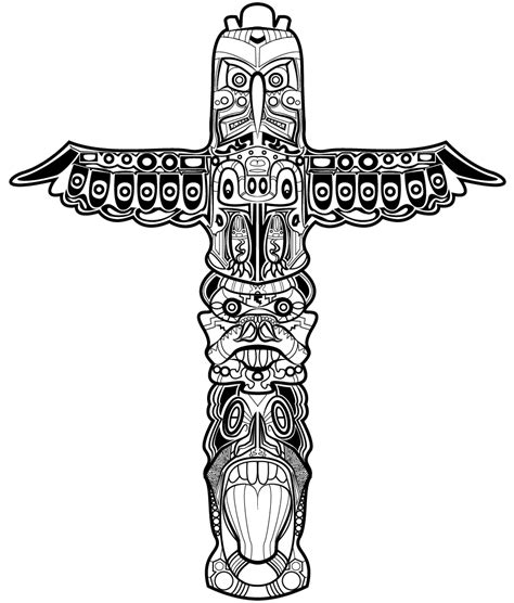 totem pole design template tom huxley totem pole design drawing
