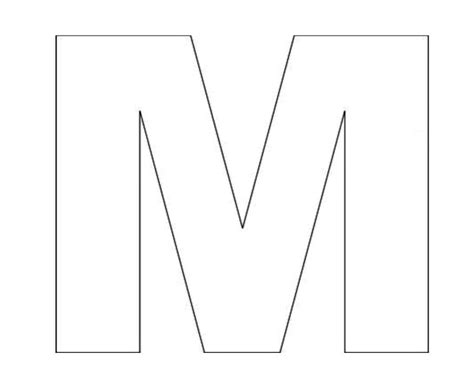 letter m template alphabet letter m template for letter quot m