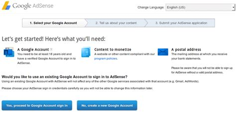 adsense sign up google adsense how to sign up and start earning money
